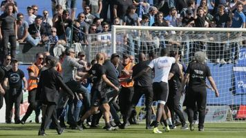 """Игроки """"Лиона"""" подверглись нападению со стороны фанатов """"Бастии"""""""