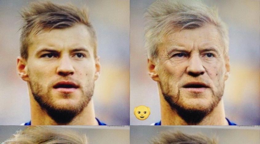 Ярмоленко-дедушка, Кварцяный-бабушка: футболисты и тренеры в FaceApp