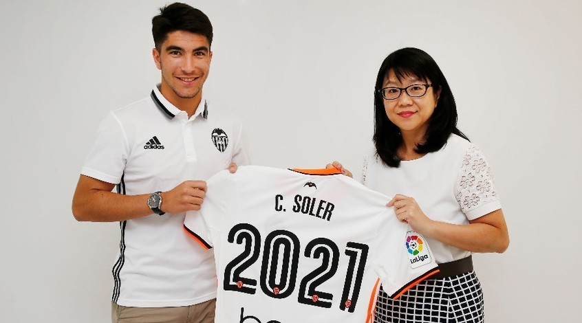 """Валенсия"" продаст Карлоса Солера не менее чем за 80 млн. евро"