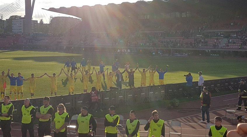 Фантастическая поддержка  сборной Украины в Финляндии (Видео)