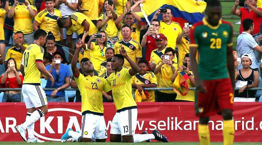 Колумбия разгромила сборную Камеруна