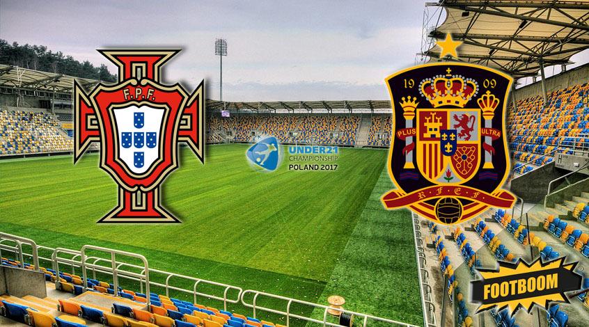 Португалия (U-21) - Испания (U-21) 1:3. Есть первый полуфиналист