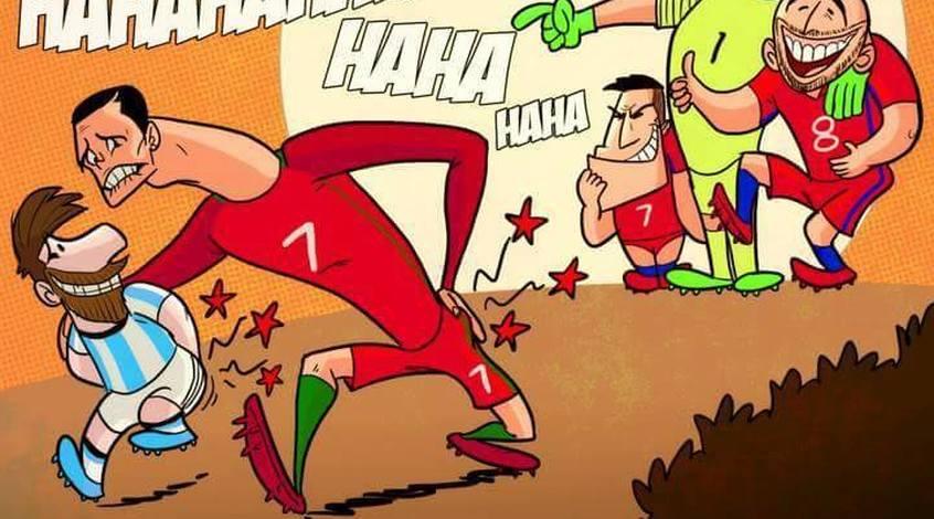 """Футбол в карикатурах: теннисные деньки Мальдини, """"отшлепываение"""" Месси и Роналду (Фото)"""