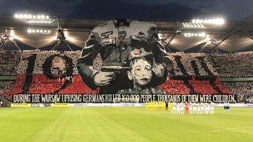 Феноменальный баннер на матче Лиги чемпионов (Видео)