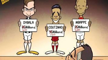"""Футбол в карикатурах: уничтожение надежд Коутиньо, трансферные обломы """"Барселоны"""" и старт """"Арсенала"""" (Фото, Видео)"""