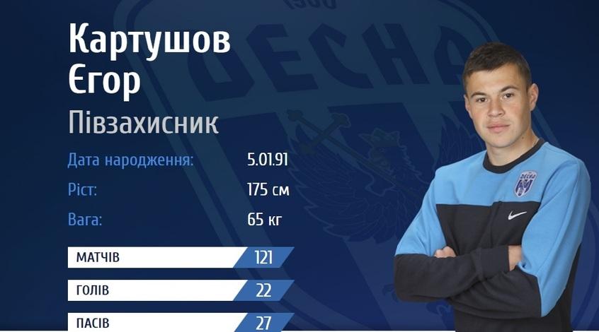 """Єгор Картушов: """"Про те, що """"Десна"""" не вийшла в УПЛ вже ніхто не говорить"""""""
