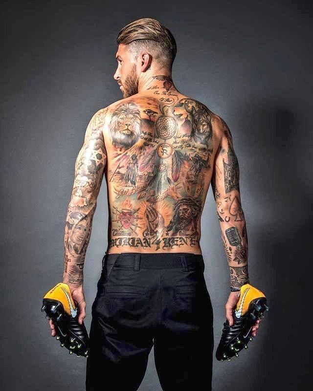 Серхио Рамос – у вас вся спина в тату (Фото) - изображение 1