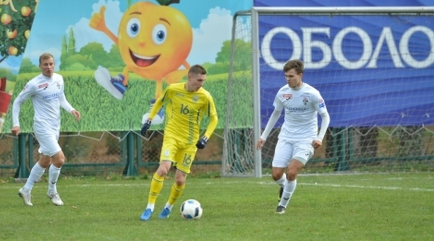 """Україна (U-21) - """"Оболонь-Бровар"""" 1:0. Гол-красень Мисика"""