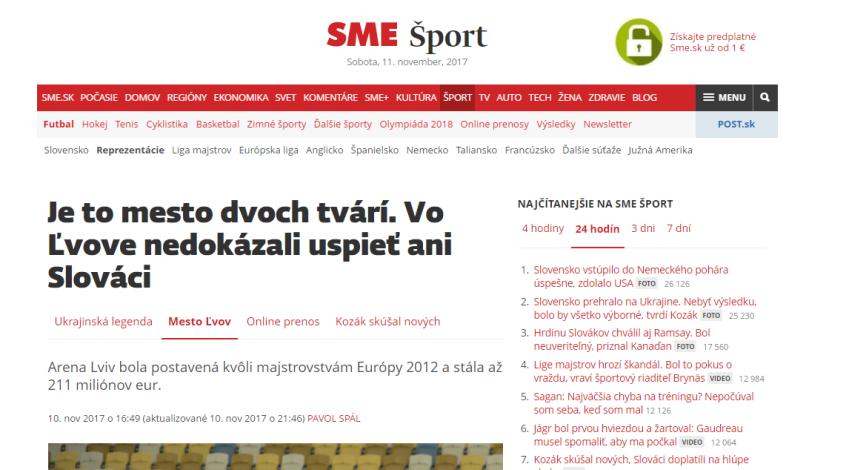 Украина- Словакия. Обзор словацких СМИ