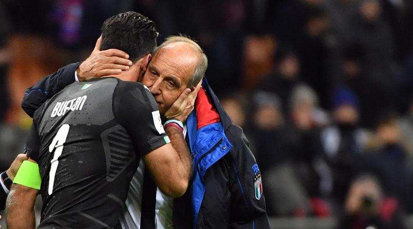Слёзы Джиджи Буффона после вылета сборной Италии от Швеции