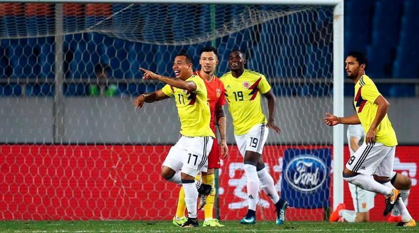 Сборная Колумбии забила Китаю четыре безответных мяча