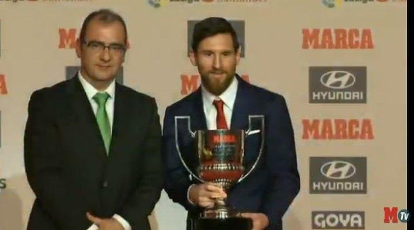 Месси в 4-й раз вкарьере получил трофей Пичичи