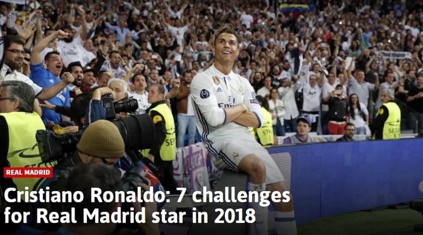 Криштиану Роналду: семь главных задач в 2018 году