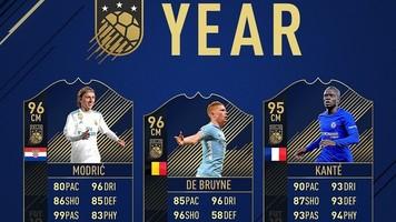 Модрич, Канте и Де Брюйне попали в команду года по версии FIFA 18