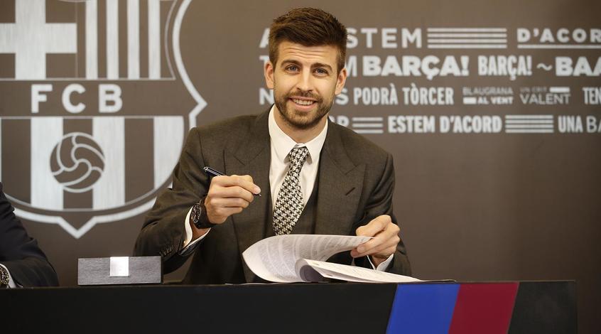 Барселона подтвердила подписание договора сПике