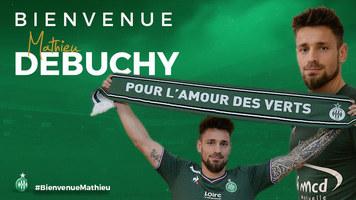 """Официально: """"Сент-Этьен"""" объявил о продлении контракта с Матье Дебюши и подшутил над Пике"""