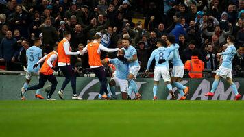 """""""Манчестер Сити"""" оштрафован на 50 тысяч фунтов за поведение игроков в матче с """"Уиганом"""""""