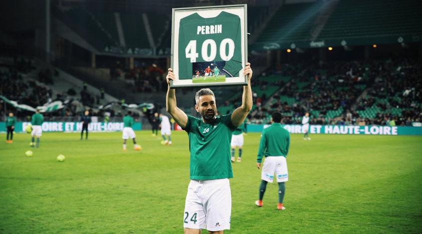 """Лоик Перрен провел 400-й матч в футболке """"Сент-Этьена"""""""