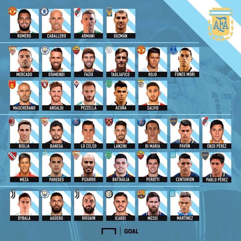 Хорхе Сампаоли объявил расширенный список сборной Аргентины на ЧМ-2018 - изображение 1