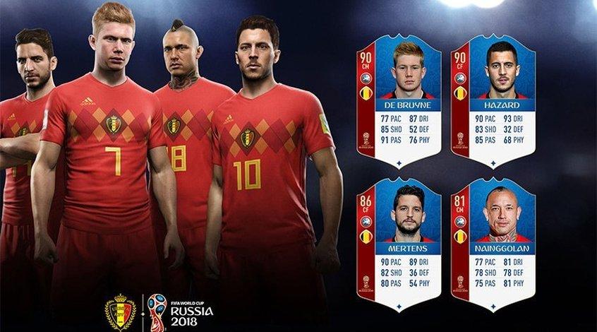 FIFA 18 World Cup: сборная Бельгии (+Фото)
