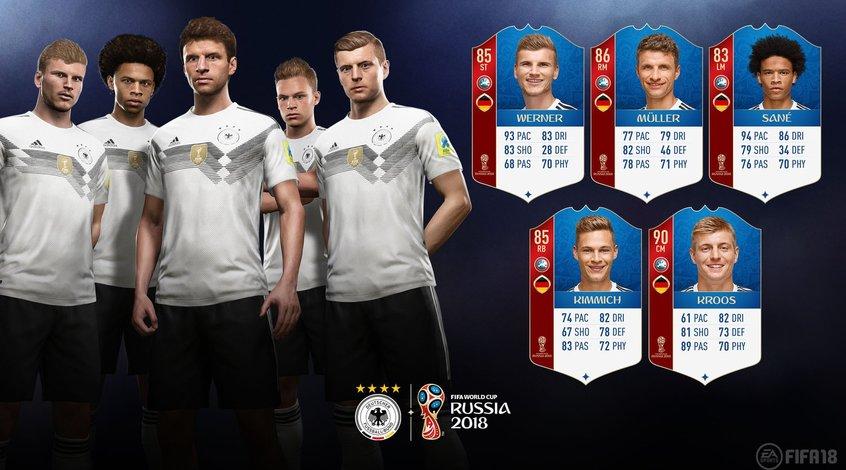 FIFA 18 World Cup: сборная Германия