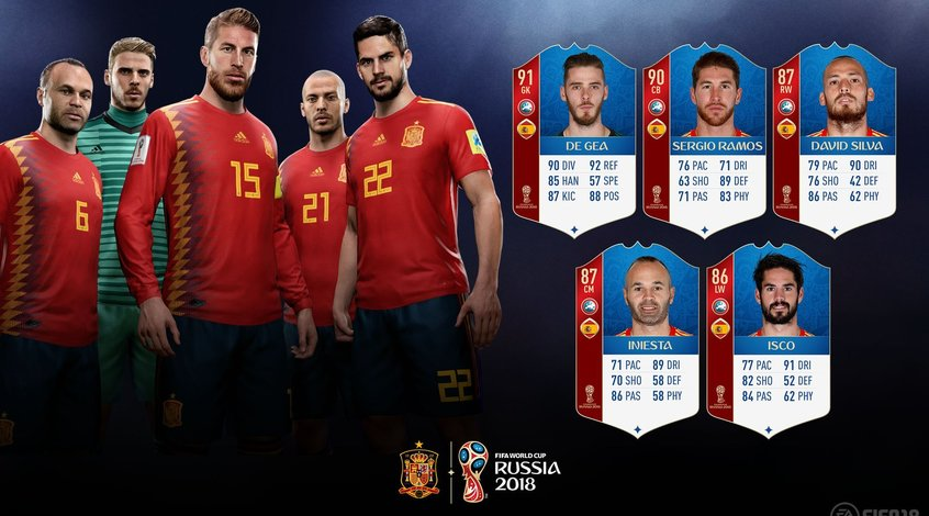 FIFA 18 World Cup: сборная Испании