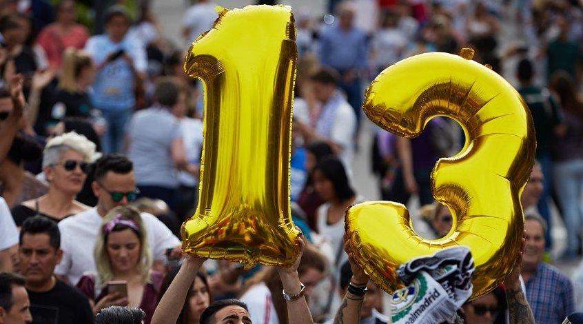 "Мгновения чемпионского парада ""Реала"" в Мадриде (Фото, Видео)"