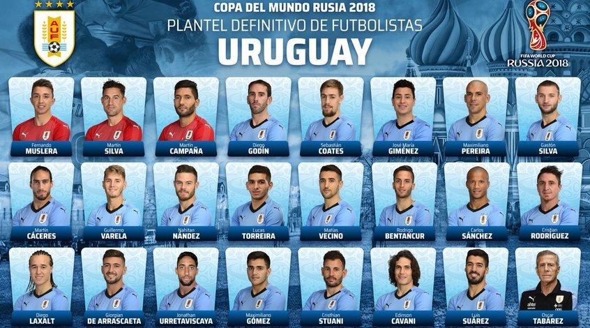 Сборная Уругвая огласила окончательную заявку на ЧМ-2018