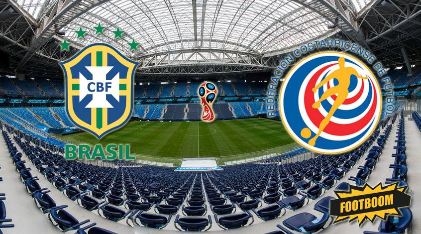 Бразилия – Коста-Рика: стартовые составы
