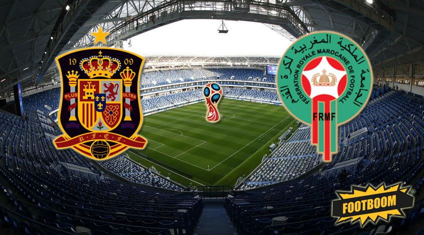 Испания — Марокко: стартовые составы