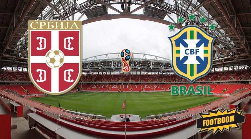 Сербия - Бразилия: стартовые составы