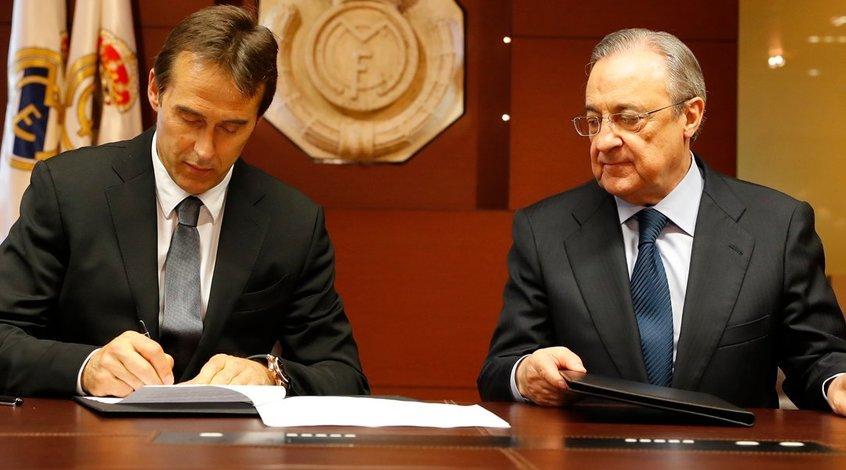 """Флорентино Перес: """"Контракт с Лопетеги рассчитан на три сезона, мы верим в него"""""""