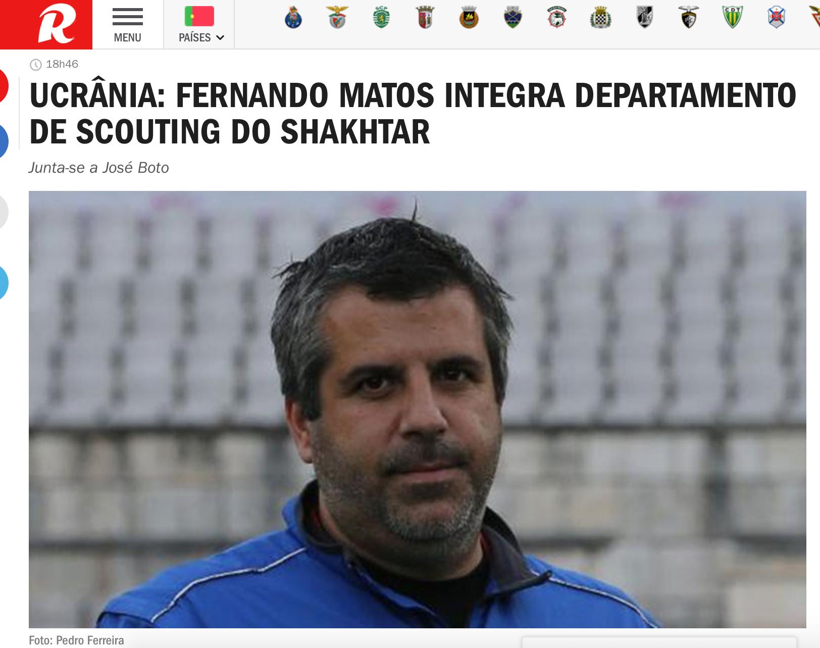 """Record: донецкий """"Шахтер"""" нашел нового скаута в Португалии (+Фото) - изображение 1"""