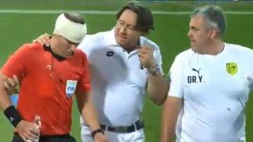 Задержали фаната, который разбил голову бутылкой лайнсмену в матче Лиги Европы (Фото, Видео)