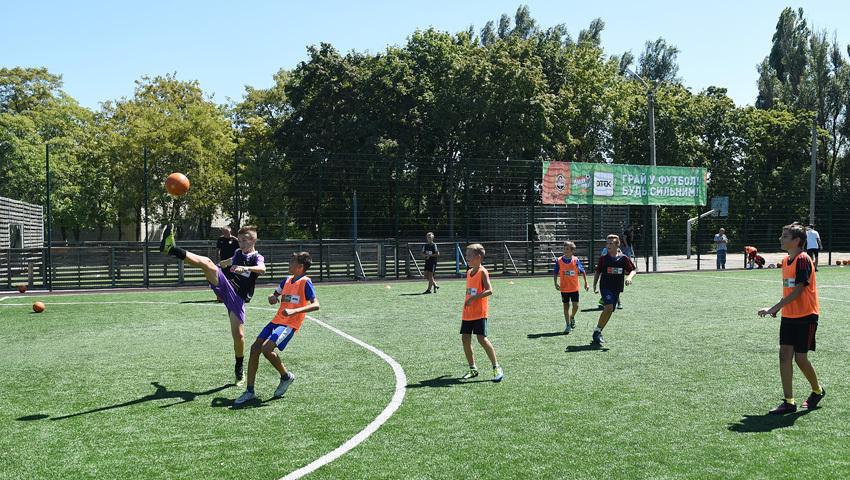 """""""Шахтер"""" открыл первую футбольную площадку для детей - """"Давай, играй!"""" в Днепропетровской области - изображение 5"""