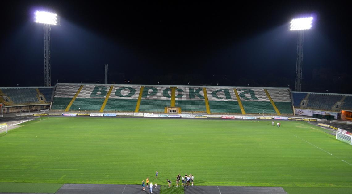 """На стадіоні """"Ворскла"""" успішно протестували нове освітлення (Фото) - изображение 1"""