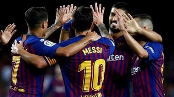 """Чемпионат Испании. 1-й тур. """"Барселона"""" крупно побеждает, Месси забивает 6000-й гол каталонцев в Ла Лиге"""