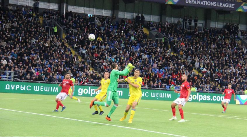 Казахстан – Грузия 0:2. Двойной удар