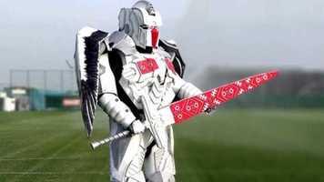 Новый талисман сборной Беларуси: трансформер с мечом