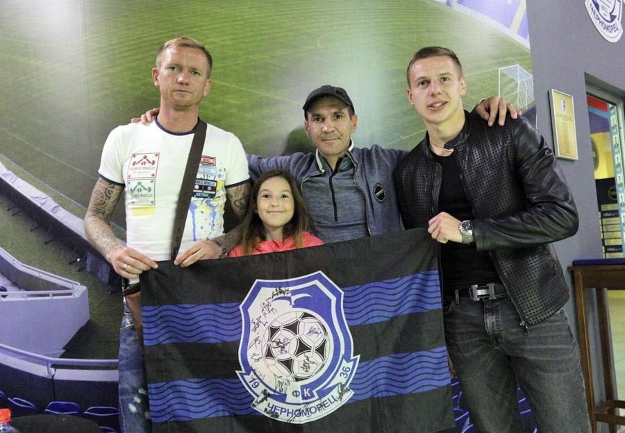 """Футболисты """"Черноморца"""" встретились с болельщиками (Фото) - изображение 4"""