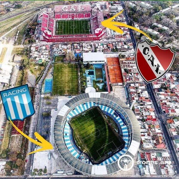 Фото дня: в Аргентине стадионы принципиальных соперников расположены рядом друг с другом - изображение 1