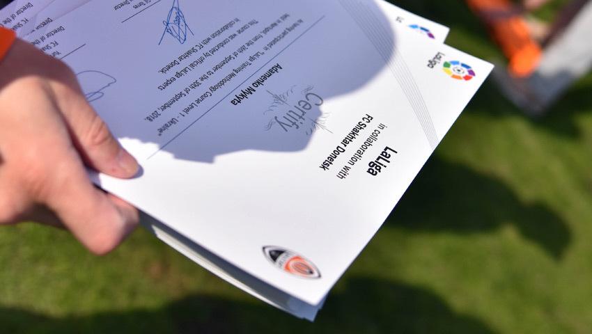 """""""Шахтер"""" и LaLiga подготовили 52 украинских детских тренера - изображение 4"""