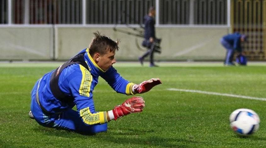 У передігровому тренуванні молодіжної збірної України взяв участь Андрій Лунін