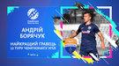 Экспертный совет УПЛ назвал имя лучшего игрока 12-го тура чемпионата Украины