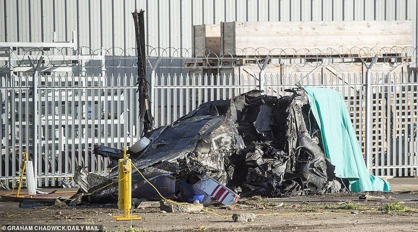 """Очевидец падения вертолета владельца """"Лестера"""": """"Был сильный взрыв"""""""