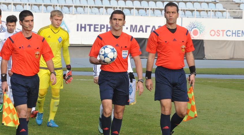 Матч Словакия - Украина обслужит судейская бригада из Черногории