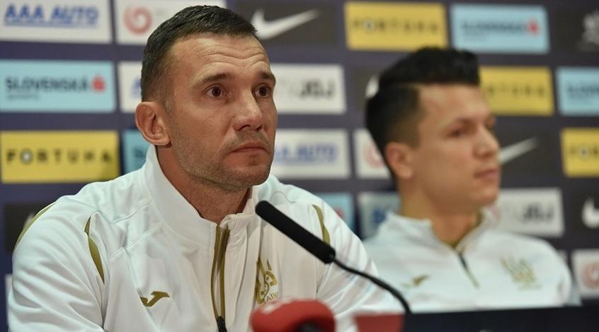 Словаччина - Україна: передматчева прес-конференція Андрія Шевченка