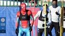 Джейми Варди провел тренировку в костюме человека-паука (Фото)