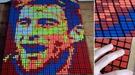 Футбольные картины кубиком Рубика, или креатив итальянского парня (Видео)