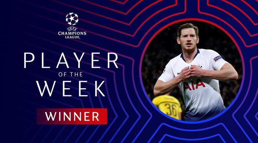 Ян Вертонген признан лучшим игроком недели в Лиге чемпионов (+Фото)